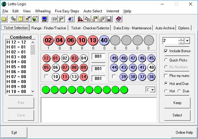 Lotto Logic Lottery Software